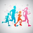 Running Family - 66691963