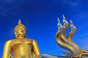 Big buddha statue at Wat Muang in Thailand