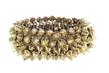 beautiful female copper bracelet with studs