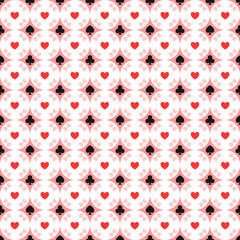 Seamless pattern of card suits
