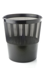 Office plastic black garbage bin
