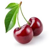 Fototapety Cherry isolated on white background