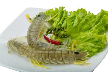 Raw Spiny lobster
