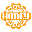 Delicious honey stamp or label