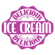 Delicious ice cream stamp or label