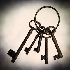 old vintage metal keys