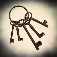 old metal keys