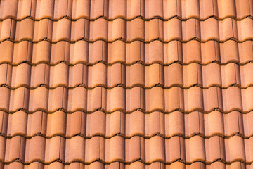 Seamless orange roof tile.