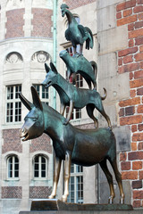 The Musicians of Bremen statue