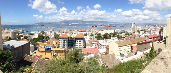 panoramic view of the bay if Gibraltar