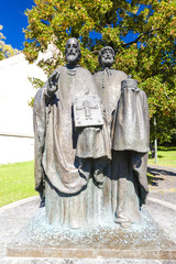 statue of Saints Cyril and Methodius, Nitra, Slovakia