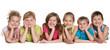 Leinwanddruck Bild - Six happy children