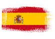 Obrazy na płótnie, fototapety, zdjęcia, fotoobrazy drukowane : brushstroke flag Spain