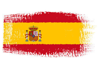 brushstroke flag Spain