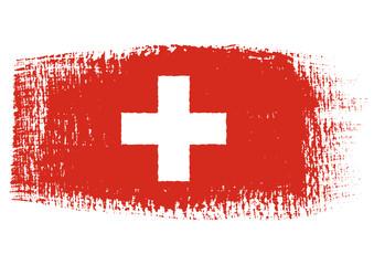 brushstroke flag Switzerland