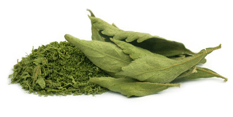 Dried and crushed Stevia