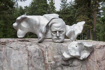 Sibelius in stainless steel in Helsinki