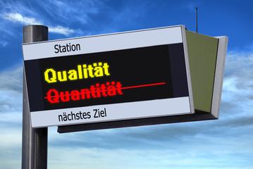 Anzeigetafel 3 - Qualität