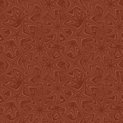 Brown seamless revolved star pattern background