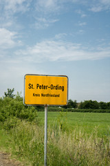 Ortseingang St. Peter-Ording