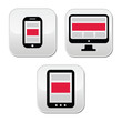 Responsive design for web - computer screen, smartphone, tablet