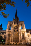 Fototapety Famous Notre-Dame de Rouen cathedral at twilight