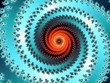 Decorative fractal spiral in a bright colors - 66700995