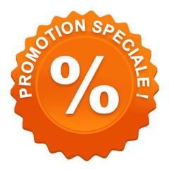 promotion spéciale sur bouton web denté orange