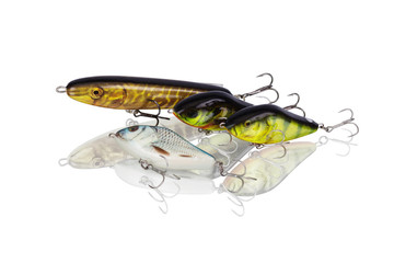 Set spinning lures for predatory fish