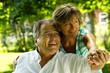 Älteres glückliches Paar im Grünen