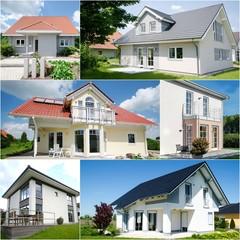 Eigenheim - Wohnhaus - Zuhause - Collage