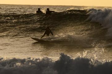 Backlight Silhouette Surfer