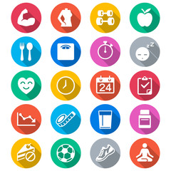 Health care flat color icons