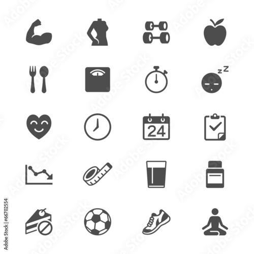 Płaskie ikony opieki zdrowotnej