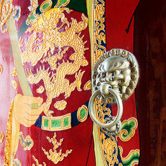 Ancient Chinese temple door knocker