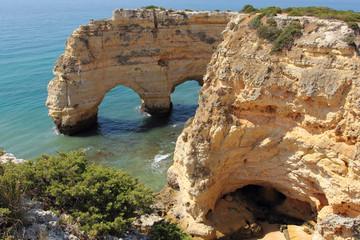 Cliffs of Marinha cove