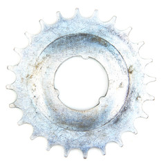 Metal cogwheel isolated on white