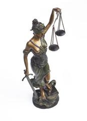 Justitia Bronzestatue