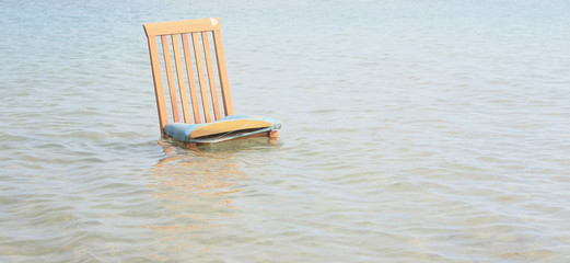 Chair amongst the waves