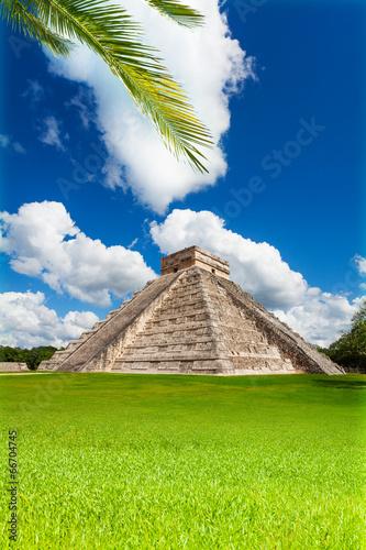 mata magnetyczna Ładny widok pomnika Chichen, Itza, Meksyk