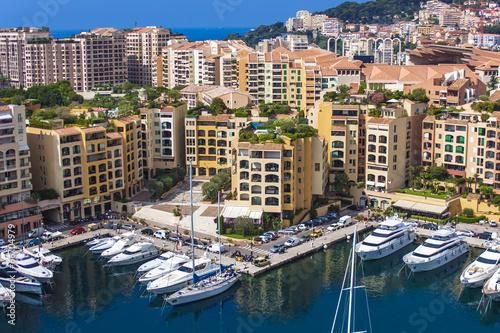 In de dag Milan Principality of Monaco, France. View Yacht city port