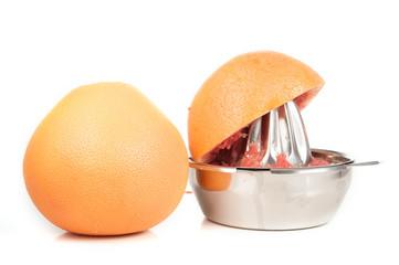 Grapefruit mit Saftpresse