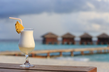 cocktail on tropical beach
