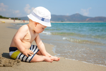 Infant on a beach