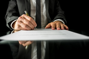 Signing legal papers