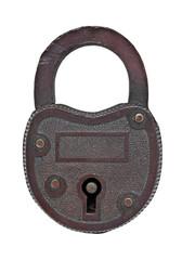 vintage copper padlock