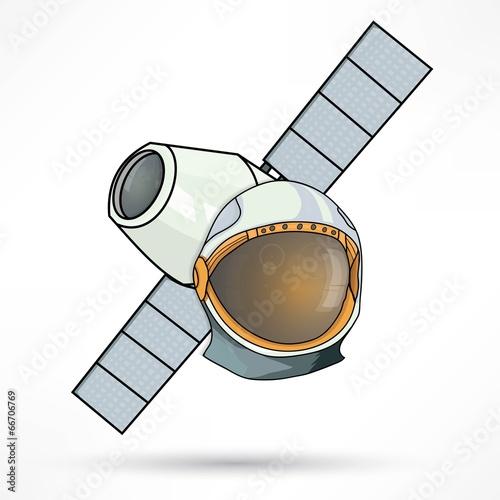 satellite station astronaut icon