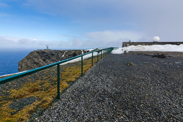 Tourist viewpoint on North Cape
