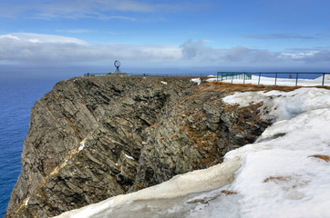 North Cape cliff in April