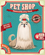 Vintage Pet shop poster design